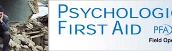 Il Primo Soccorso Psicologico (PFA): che cos'è e quando serve